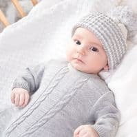 A2623G New Grey Knitted Onesie